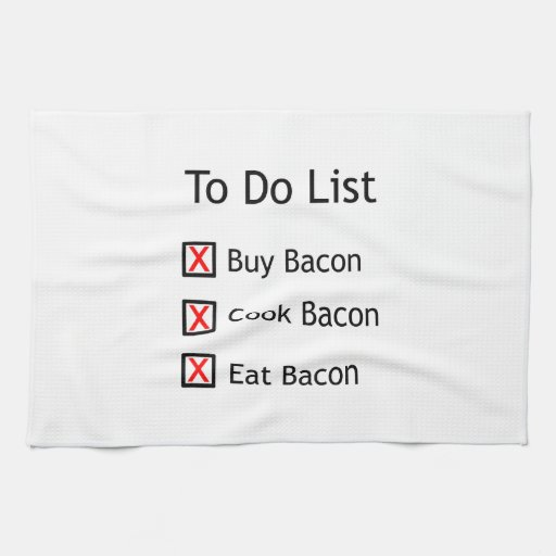 Bacon To Do List Hand Towel