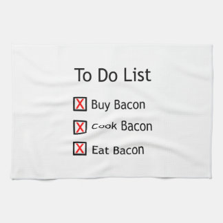 Bacon To Do List Towel