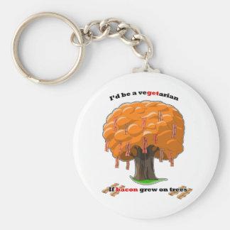bacon tree key chain