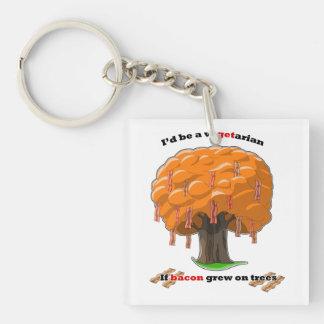 bacon tree acrylic keychain