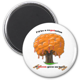 bacon tree 2 inch round magnet