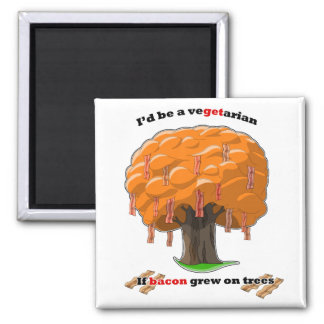 bacon tree 2 inch square magnet