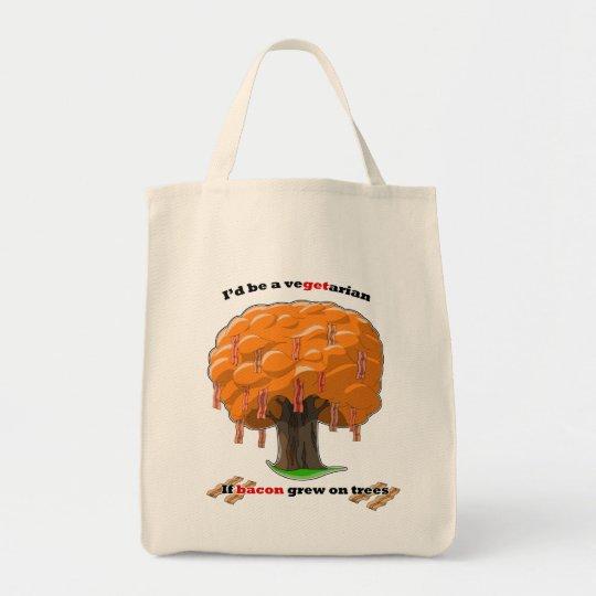 bacon tree tote bag