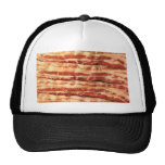 bacon, trucker hat