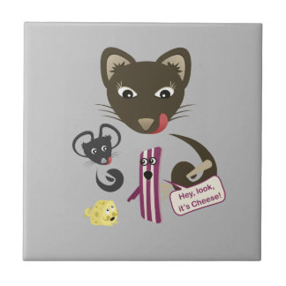 Bacon Unites Friends and Foes Ceramic Tiles