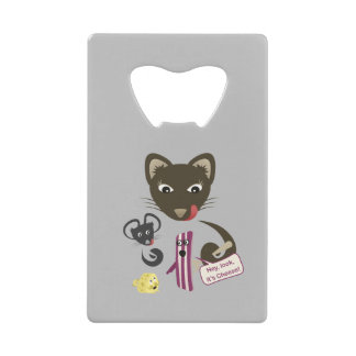 Bacon Unites Friends and Foes Credit Card Bottle Opener