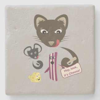 Bacon Unites Friends and Foes Stone Beverage Coaster