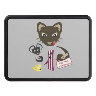 Bacon Unites Friends and Foes Trailer Hitch Cover