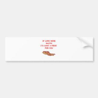 bacon valentine car bumper sticker