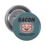 Bacon - Vegan Pinback Buttons