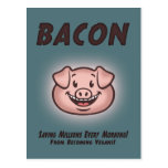 Bacon - Vegan Postcard