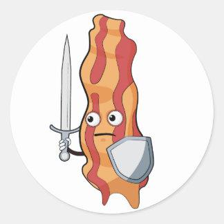 Bacon Warrior Classic Round Sticker
