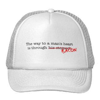 Bacon Way to a Man s Heart Trucker Hat