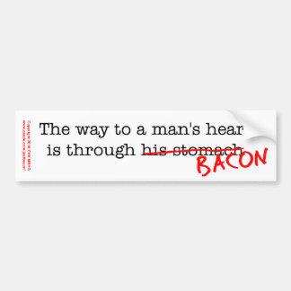 Bacon Way to a Man's Heart Bumper Sticker