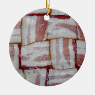Bacon Weave Ceramic Ornament