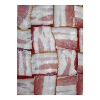 Bacon Weave 5.5x7.5 Paper Invitation Card