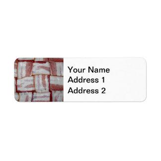 Bacon Weave Return Address Label