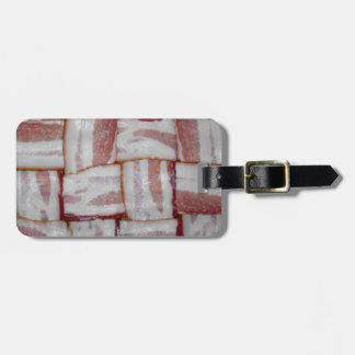 Bacon Weave Travel Bag Tags