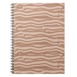 Bacon Weave Pattern Spiral Notebook