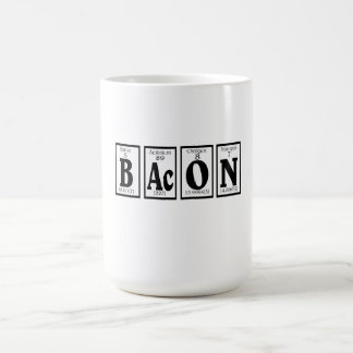 Bacon with your coffee. classic white coffee mug