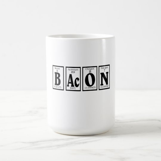 Bacon with your coffee. coffee mug