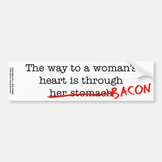 Bacon Woman's Heart Car Bumper Sticker