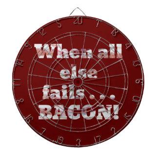 Bacon Won't Fail Dartboard With Darts