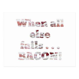 Bacon Won't Fail Postcard