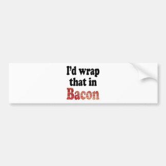 Bacon Wrap Car Bumper Sticker