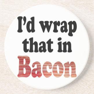 Bacon Wrap Drink Coaster