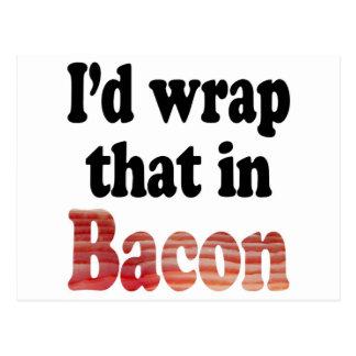 Bacon Wrap Postcard