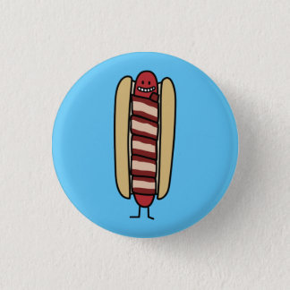 Bacon Wrapped Hot Dog Hotdog Wiener Bacon-wrapped Pinback Button
