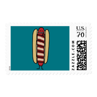 Bacon Wrapped Hot Dog Hotdog Wiener Bacon-wrapped Postage