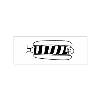 Bacon Wrapped Hot Dog Hotdog Wiener Bacon-wrapped Rubber Stamp