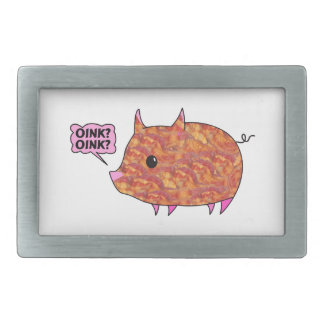 Bacon Wrapped Piggy Rectangular Belt Buckle