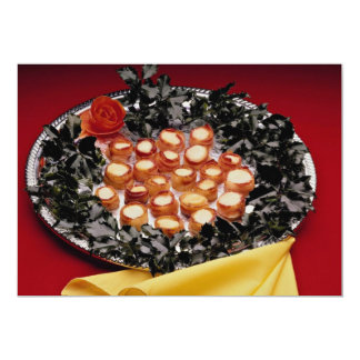 Bacon-wrapped seafood hors d'oeuvres personalized announcements