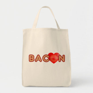 Bacon X O X LOVE Tote Bag