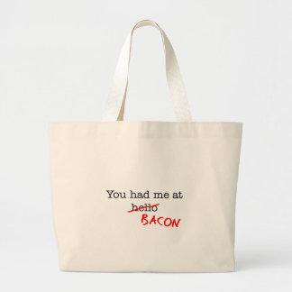 Bacon You Had Me At Jumbo Tote Bag
