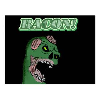 Bacon Zombie Postcard