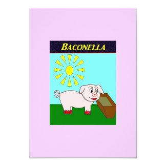 Baconella Invitación 12,7 X 17,8 Cm