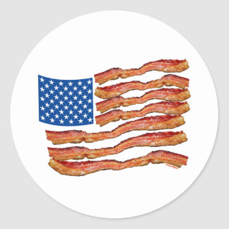 Baconflag Classic Round Sticker