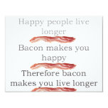 baconlogicwithbacon 4.25x5.5 paper invitation card