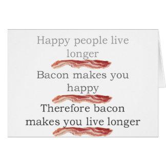 baconlogicwithbacon tarjeta de felicitación