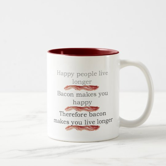 baconlogicwithbacon Two-Tone coffee mug