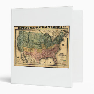 Bacon's Military Map of the United States (1862) Binder