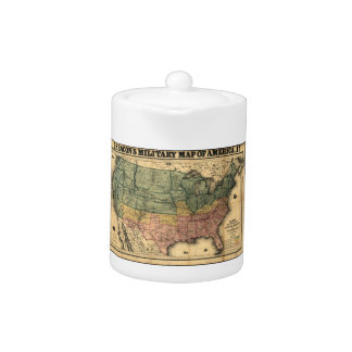 Bacon's Military Map of the United States (1862) Teapot
