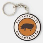 Bacontarian Basic Round Button Keychain