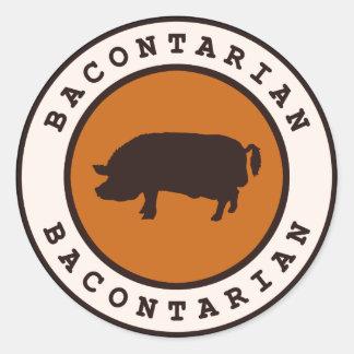 Bacontarian Pegatina Redonda
