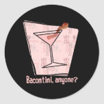 Bacontini Anyone Round Stickers