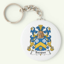Bacquet Family Crest Keychain